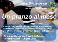 """""""Un pranzo al mese"""": il LC Siracusa Eurialo alla mensa dei poveri per"""