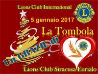 """La """"Tombola"""" del Lions Siracusa Eurialo per """"Alleviare la fame"""""""
